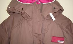 SPYDER Ladies Winter Jacket Jacket has been hardly worn Brown with pink and has hood Ladies Size 8 Retails for $350+ ONLY ASKING $150