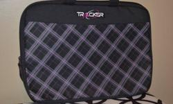 Brand new Tracker branded laptop sleeve for sale, never been used. It does not fit my laptop (I have a mini laptop). Asking $15.
