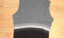 I have a Brand New Vest Knitted Black Grey Youth Size S-M for sale! This is in excellent condition and would look great in your home or to give as a gift. Comes from a non-smoking household. Do not miss out on this excellent opportunity to get this for a