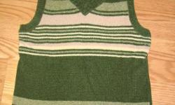 I have a Brand New Vest Knitted Green Youth Size S-M for sale! This is in excellent condition and would look great in your home or to give as a gift. Comes from a non-smoking household. Do not miss out on this excellent opportunity to get this for a