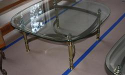 solid Brass and glass rectangular coffee table