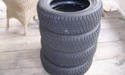 Set of 4  Bridgestone BLIZZAK  WS-50  Snow tires(EXCELLENT SHAPE)    185/65 r15       (Used Aprox 1/2 a season)    (Only driven aprox 1-2 times a week local short trips during that time)   LIKE NEW CONDITION!!!!!  Don't miss out!!!!!!  Asking $200.00 for