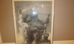 Britannia Print by Malli Original print from 1977 About 28 inches by 37 inches Tremendous detail as shown in the close-up photos Small stain in the top left corner Call 613-225-4120 $200