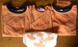 Two short sleeve shirts, one long sleeve shirt and one scarf for Brownies. Size Large.
