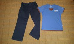 Size Small: Brownie T-Shirt Size 5: Roll-up Cargo Pants Both in excellent condition.