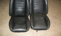 1 pair black bucket seats 3rd generation camaro or vega not bad condition  but can be upholserd, call mike @ 905-414-8898