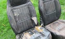 In the pictures below there are 2 different bucket seats one is cloth the other naugahyde,these will need to be re-covered I am only asking $25.00 for these.  The cloth seats are in excellent condition $75 o.b.o.  We also have another pair which I don't