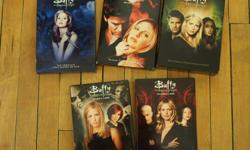 Buffy the Vampire Slayer Season 1-5. $30. All in good condition. The discs from season 4 and 5 have only been played once.