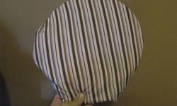 I have two car seat bug/sun covers for sale.  Fold up nicely to fit into diaper bags and will fit almost any carrier as has elastic base. Pink with brown stripes Will sell together or separately -  $10 each or $15.00 for both The screen is mesh and not