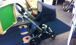 We here at Once Upon A Child have checked over this stroller & it is in GREAT shape! It comes complete with pram, Car Seat Adaptor, Rain Cover & Stroller seat. Come in & check out our GREAT selection of strollers. We are also an authorized dealer of Baby