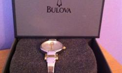 Beautiful Bulova Watch! Mint Condition! Cost above, or best offer! This ad was posted with the Kijiji Classifieds app.