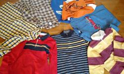 Mostly Gymboree Size 10 Boys clothes Very clean and good condition Inc two sweaters; two Rubby shirts; two dress shirts; and two LS Asking: $30 for all