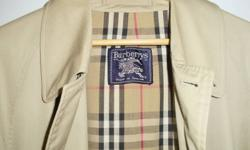 Men's Burberry trench, size 48R, in excellent condition.  Bought in the UK.  A definite classic.  Will last you a lifetime!