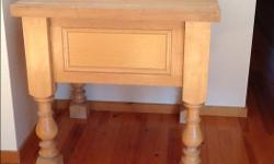 """High quality, solid wood butcher block table with deep drawer. 37""""x37""""x36"""""""