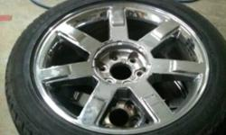 """Cadillac Escalade rims and tires, 22"""" bridgestone alenza rubber, OEM GM, 75% tire left, 285/45/22 call joe 905 953 6974 / calls only, no emails"""