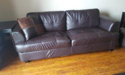 YOU ARE PURCHASING A VERY COMFORTABLE CAITLYN SOFA COUCH AND PILLOWS OR AND LOVE SEAT IN DARK CHOCOLATE IN GOOD CONDITION WITH MINIMAL WEAR. COUCH : $320.00 OBO LOVE SEAT : $290.00 OBO CHAIR & OTTOMAN - $200.00 OBO I AM STUDENT AND MOVING BACK HOME. ALL