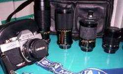 Camera Minolta SRT-200 Manual Camera 7 lenses/ complete collectors Ki - $725 ((Yonge & College)) Camera Minolta SRT-200 Manual Camera 7 lenses/ complete collectors Kit Minolta Camera SRT-200 Manual 35mm Camera includes 7 Lenses/ Bounce Flash/ 6 Filters/ 2