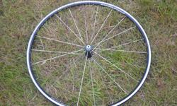 wheel spins true and braking surface is in good condition, bladed spokes to give you that slightly lowered drag coefficient! however part of the bearing race is slightly pitted and will need to be replaced to give you that legendary campagnolo