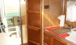 """Truck camper 10'-6"""" Need 8 foot box loaded with stuff. Good in cold weather.  Newer fridge."""