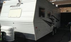 PRICE REDUCED, have new trailer on the way. Very Clean Trailer. Working fridge, stove, microwave, full bathroom, AC, Furnace. Unit is in very good shape. 21' length of trailer