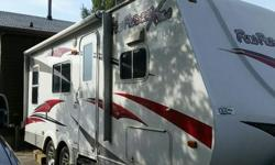 2010 Fun Finder 20 ft - 24 ft to the end of hitch. Unit is 1/2 ton towable and will haul 2 bikes great for getting into places where bigger units can't. This trailer has everything you need. Propane and electric water heater, propane /electric