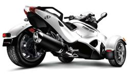 Price Includes AB Tax - Regular MSRP $20,700 (before tax)   Can-Am Spyder - Pearl White - Sport Model - Semi Automatic - 998cc Rotax Engine - Vehicle Stability System (ABS, Electronic Traction and Stability Control) - Multi Function Gauge Display - 44
