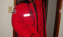 Selling a large Authentic Red Canada Goose Expedition Resolute for $450 obo. It is 100% authentic not like most of the ones on here which are fake. Cousin works for cabelas and ordered it online. Retail is $872.99 plus tax and shipping and handling. I'm