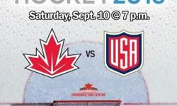 Pair of tickets to see Canada vs. USA on Saturday September 10, 2016 at the Canadian Tire Centre. Row B - Section 301 - Team Canada (Carey Price) end! Save the service charges and fees from Ticketmaster - $163 otherwise for this pair of tickets!