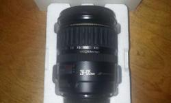 I am selling a lightly used Mint condition Canon 28-135mm EF-S Zoom Lens. It looks and performs like new. I am the original owner and it has lived its life in a smoke free home. It comes complete with both end caps and the original box & packaging. It is