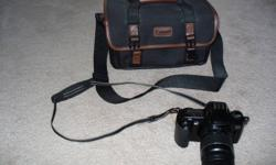 Canon EOS 3000 35mm film camera and case. Gently used - very good condition! $75.00 cash OBO. Please contact for additional info or to arrange a time to view/pick-up.