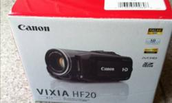 Canon HF20 HD Camcorder for sale. - shoots 1080p video - 32GB hard drive - excellent sound quality - only used 4 times This ad was posted with the Kijiji Classifieds app.