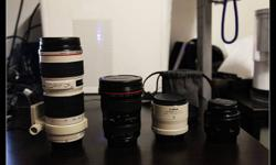 Canon EF Leneses for Sale. These lenses are perfect inside out. No even a single scratch. Welcome to test with your own camera, but serious buys only.   70-200mm F4L (Non IS)  ----  $ 650 (with lense mount and filter)   17-40mm   F4L                ---