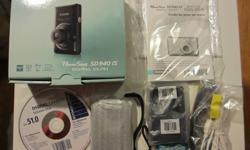 """Hi Prospective Buyer,   You will be purchasing a slightly used, black coloured, Canon PowerShot SD940 IS Digital ELPH camera that is maintained and kept in """"LIKE NEW"""" condition. The camera is made in Japan and your purchase will include all original"""