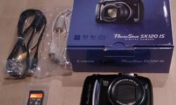 """Canon PowerShot SX120IS Digital Camera with SanDisk 8GB SD Memory Card. Canon PowerShot SX120IS (10.0 Mega Pixels, 10x Optical Zoom and 3.0"""" LCD). SanDisk Ultra 15 MB/s SD HC 8GB Class 4 memory card. Both the camera and memory card are in excellent"""