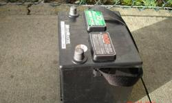 Got an 1 yr old battery . 525 cold crank 640 AMPS It's works great. paid 4 battery $100 1yrs ago, selling for $50 firm please call 778-9969413