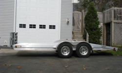 "NEW 2011 ALL ALUMINUM 16Ft OPEN CAR HAULER / TRAILER 2 ? 3,500# Torsion Axles w/EZ-Lube Hubs (7,000 Lb. GVWR) 4 ? NEW 15"" Radials Tires 15? Upgraded Aluminum Wheels 2 5/16? Ball / Coupler D.O.T. Approved Lighting Stainless Steel D-rings All Aluminum"