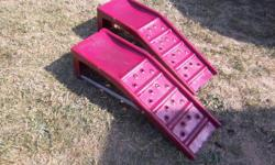 """Car ramps for sale.8 """" lift 7 3/4"""" wide Only $25. We are located in Orleans. See our list of other ads for sale. First come, first served."""