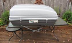 FOR SALE:   CAR TOP CARRIER, GREAT SHAPE, AERODYNAMIC.   LIKE NEW: $60.00