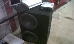 USED DVD/CD/MP3/AM/FM ENTERTAINMENT SYSTEM. PACKAGE INCLUDES FARENHEIT DVD/CD/MP3 PLAYER. SEPARATE 7 INCH LCD COLOUR MONITOR, 2 10 INCH ECLIPSE SUB-WOOFERS IN CARPETED SPEAKER BOX, ECLIPSE EA3422 123W X 4 4 CHANNEL AMPLIFIER, REMOTE CONTROL AND WIRING $