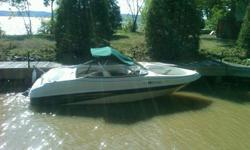 17.5 foot Caravelle Bow rider powered by a 3 litre 4 Cylinder Volvo Pentax inboard engine.  Comes with a single axel trailer with a swing away tongue, new sony FM CD player, New Hummingbird depth finder, biminin top and large cover. I want to sell before