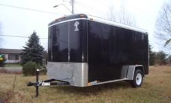 """6x12 Black Atlas Cargo trailer 2012, Rear Ramp, Side Door, Dome light, Vent ,3500 lb axle 15"""" tires, Rear LED lights One Piece Alum. roof, Inside roof finished ,3/8"""" plywood walls, 3/4"""" floor, 2"""" coupler   $3200,"""