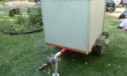 I have an enclosed trailer approx 4 feet long by 3 feet wide by 3 feet tall...great for camping or keeping stuff enclosed..trailer tounge jack and wheel bearing buddies..asking $500