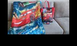 Includes eye mask, pillow and carrying bag. Never used.
