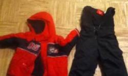 GENTLY USED , my son barely went out last winter! SZ : 24 months Coat & Snow Pants. SZ : 7 Boots. Willing to sell boots seperately.