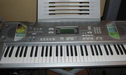 Selling a new barely used Casio keyboard with AC adapter and stand, has lots of features asking $100 obo. please contact for more information.
