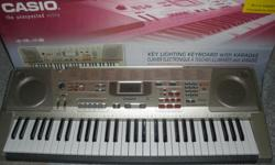 61 full size keys with touch response 264 high quality tones 120 rhythms including 20 patterns for piano play USB PORT microphone included