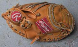 """For Sale: Rawlings """"Mike Piazza"""" catcher`s mitt. LeftHand catch-Deep pocket-Good padding. Adult 11"""" hardball-Great condition...$20."""