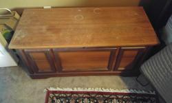 I am downsizing I have a Cedar Chest. It is 17 inches deep, 19 inches high and 40 inches wide. The top needs a sanding and some stain.