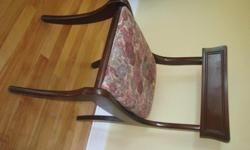 Two sturdy, comfortable chairs. Solid wood. $25 each