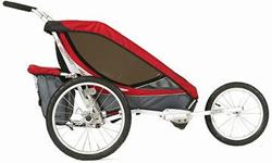 Great condition! Single Chariot Cougar 1 stroller. Well maintained. No fading. Included: Jogger wheel, bike attachment & infant seat.
